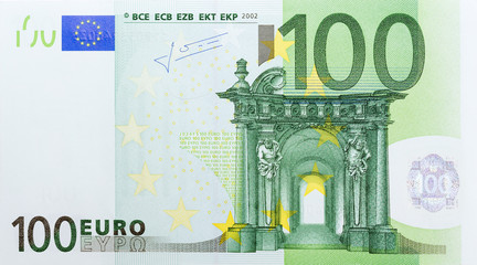 Banknote in one hundred euro.