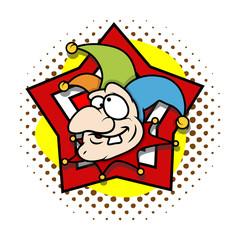 Funny Face Cartoon Jester