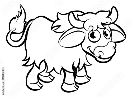 Yak Cartoon Character Stock Image And Royalty Free Vector Files On