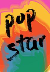 T shirt graphics slogan tee print design /pop star