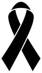 Mourning Black Ribbon Graphic
