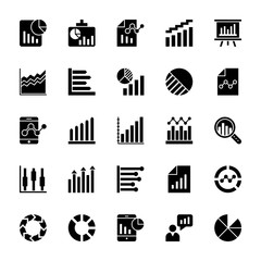 Business Charts and Diagrams Solid Icons 3