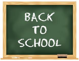 back to school Green chalkboard vector / black board