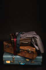 Vintage suitcases and luggage