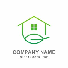 Greenhouse Leaf Nature Tree Agriculture Conservation Architecture Interior Business Company Stock Vector Logo Design Template