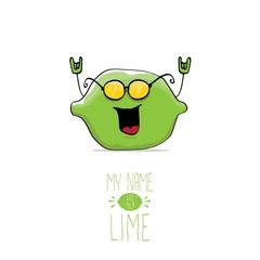 vector funny cartoon cute green lime