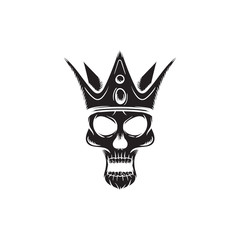 king skull vector illustration