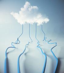 Cloud service backdrop
