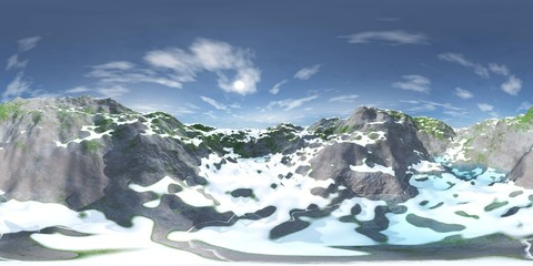 HDRI, environment map, Round panorama, spherical panorama, equidistant projection, land under heaven