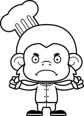 Cartoon Angry Chef Monkey