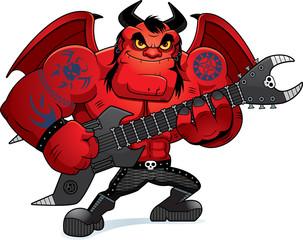 Cartoon Heavy Metal Demon