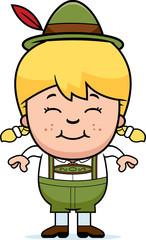 Smiling Cartoon Lederhosen Girl