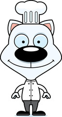 Cartoon Smiling Chef Kitten