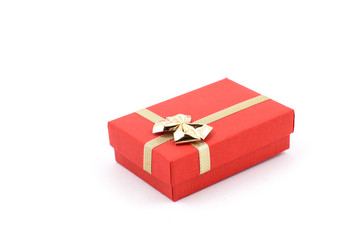 Red box stock images. Paper gift box. Little box on a white background