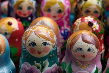 Matryoshka Doll, Russian Nesting Dolls Closeup