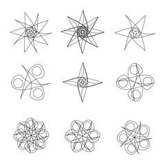 Beautiful and symmetrical geometric pattern