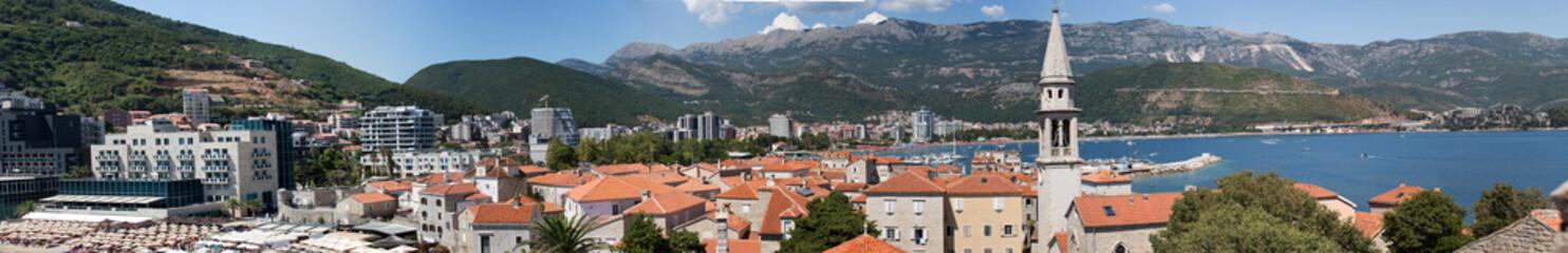 Panoramic view of Budva