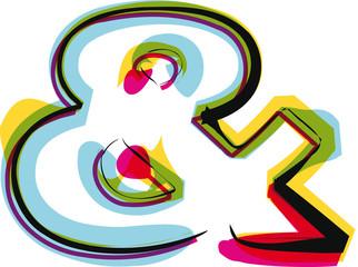 Papier Peint - Abstract colorful symbol