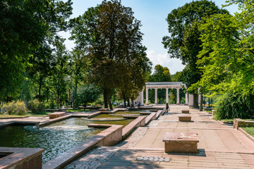 City park in Zhitomir, Ukraine  - always open for visitors. Summer noon photo