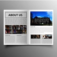 company brochure template design