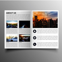 clean brochure template