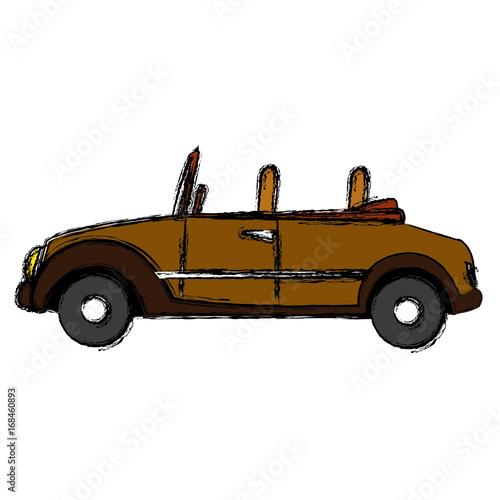 wedding car convertible old fashion style vector illustration stock image and royalty free. Black Bedroom Furniture Sets. Home Design Ideas