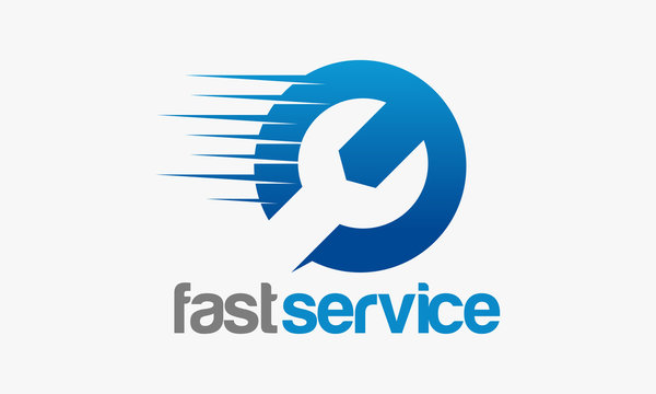 Fast Service logo designs, Repair logo template