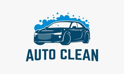 Automotive Washing logo designs, Car Clean Logo template vector illustration