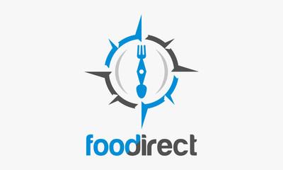 Food Compass logo designs, Food Direction Logo template vector illustration