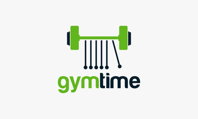 Gym Time logo template, Fitness Logo template designs vector illustration