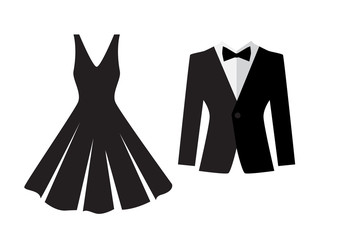 Dress and suit icon isolated