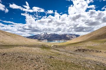 Landscape around Kyagar Tso near Tso Moriri in Ladakh, India
