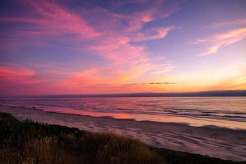 vivid sunset on the pacific coast Oregon USA