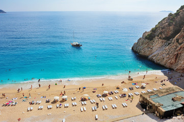 Mediterranean beach scenery,Turkey.