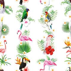 Seamless bird design pattern
