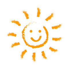 Drawn sun icons number 4 - stock vector