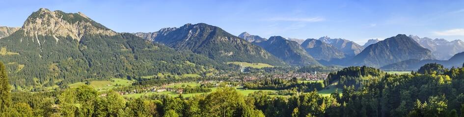 Wall Mural - abendlicher Ausblick auf Oberstdorf und die Allgäuer Alpen