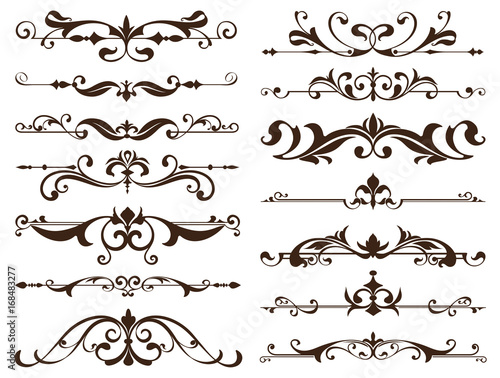 Vintage frames, corners, borders with delicate swirls in Art Nouveau ...
