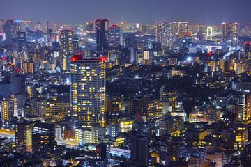 東京のビジネス街の夜景