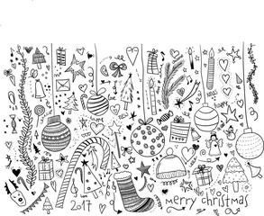 Weihnachten Doodle handgezeichnet