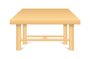 Wooden Table Vector Shape