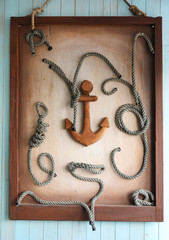 Anchor and knots as wall decoration
