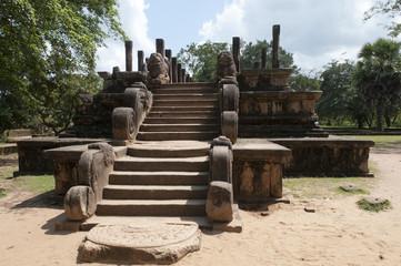 Archeological site of Polonnaruwa in Sri Lanka