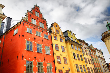 Houses on Stortorget square in Stockholm