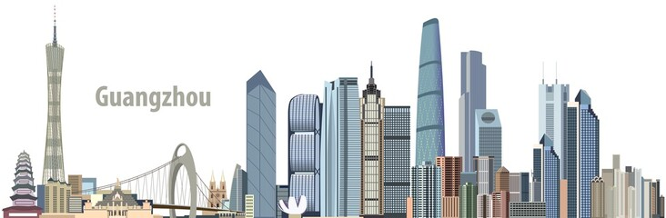vector city skyline of Guangzhou