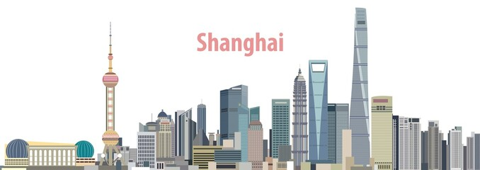 vector city skyline of Shanghai