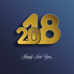 Happy New Year 2018 Background, Carte de voeux - New year greeting card, New year background. 2018 Happy New Year Background for your Seasonal Flyers, brochure, slide show, and Greetings Card.
