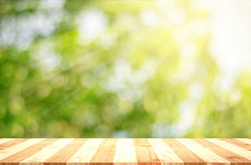 wooden with nature background