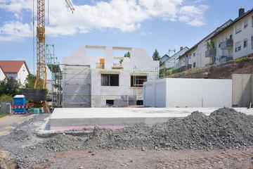 Erschliessung einer Baulücke in der Stadt