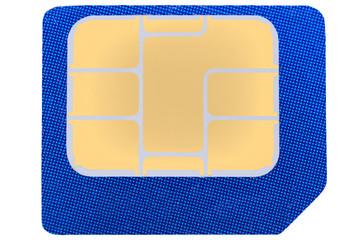 Leere SIM-Karte als Freisteller